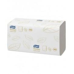 Lapiniai popieriniai rankšluosčiai TORK Premium Extra Soft (H3), 100278, V lenk., 200 serv., 1 pak.